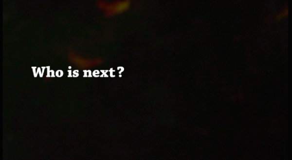 Who is next ? (Video) - by Theatre of Wrong Decisions (Netherlands)