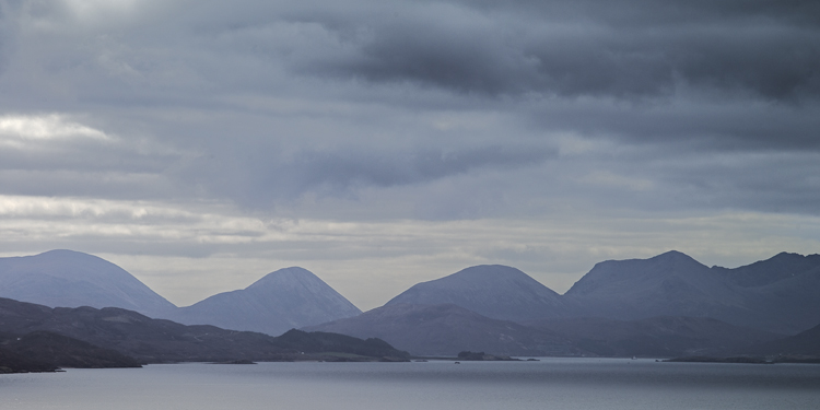 Cuillin from road to Trotternish