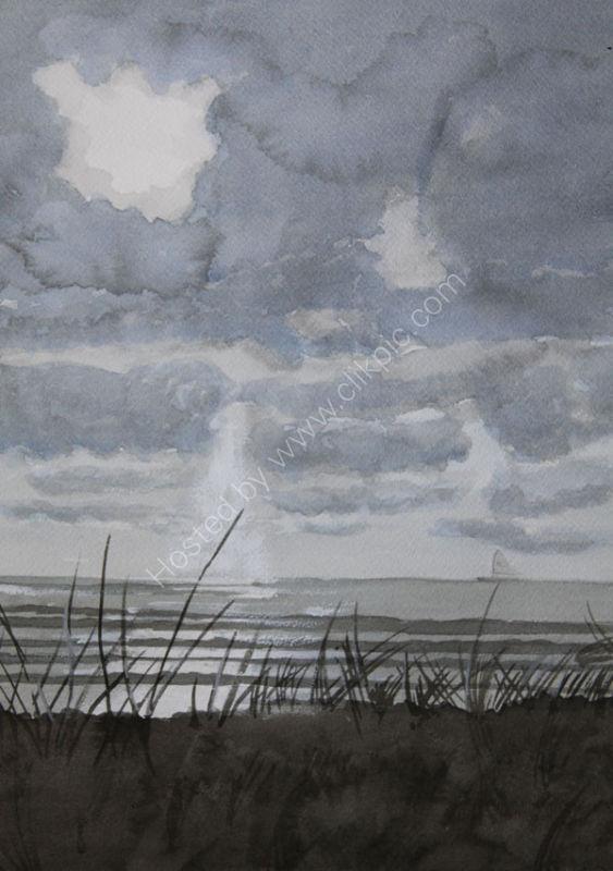 SEA SHORE AT DUSK