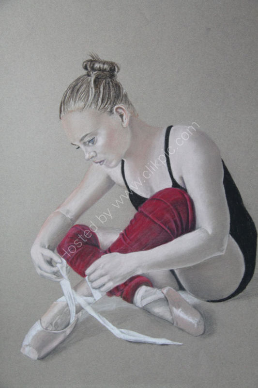 BALLERINA IN RED LEGGINGS
