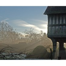 Gothic Porch at Sunrise