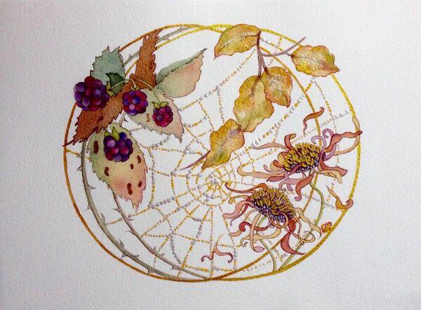 Blackberries & Golden Cobwebs