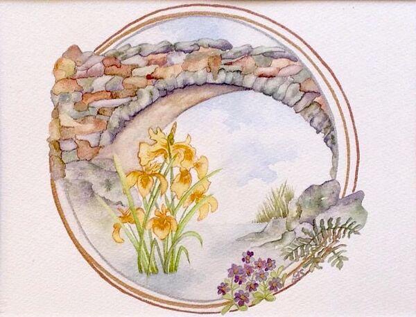 Robbers Bridge & Yellow Irises