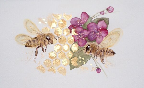 """Honeybee Happiness"" - SORRY NOW - SOLD"