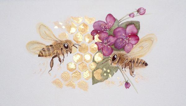 Honeybee Happiness - SOLD