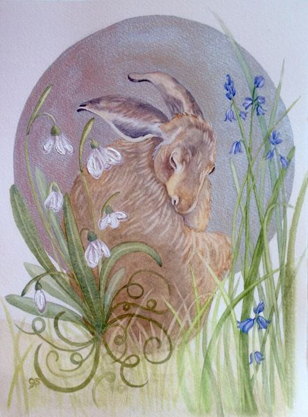 Brown Hare & Silver Moon