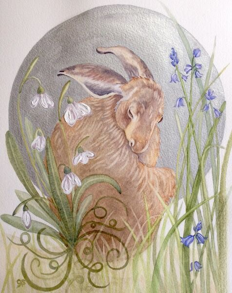 The Silvery Moon & Brown Hare