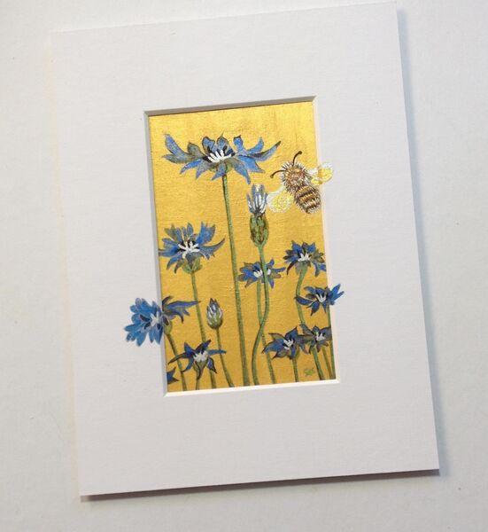 Cornflowers & Bumblebee