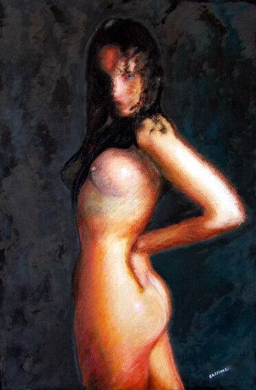 Young woman naked. SOLD