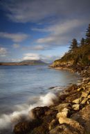 View east from Glanleam beach, Valentia Island, County Kerry