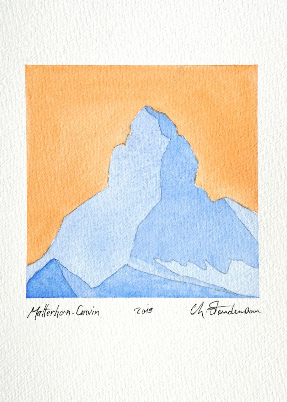 Matterhorn - Cervin 2 - Bleu et orange