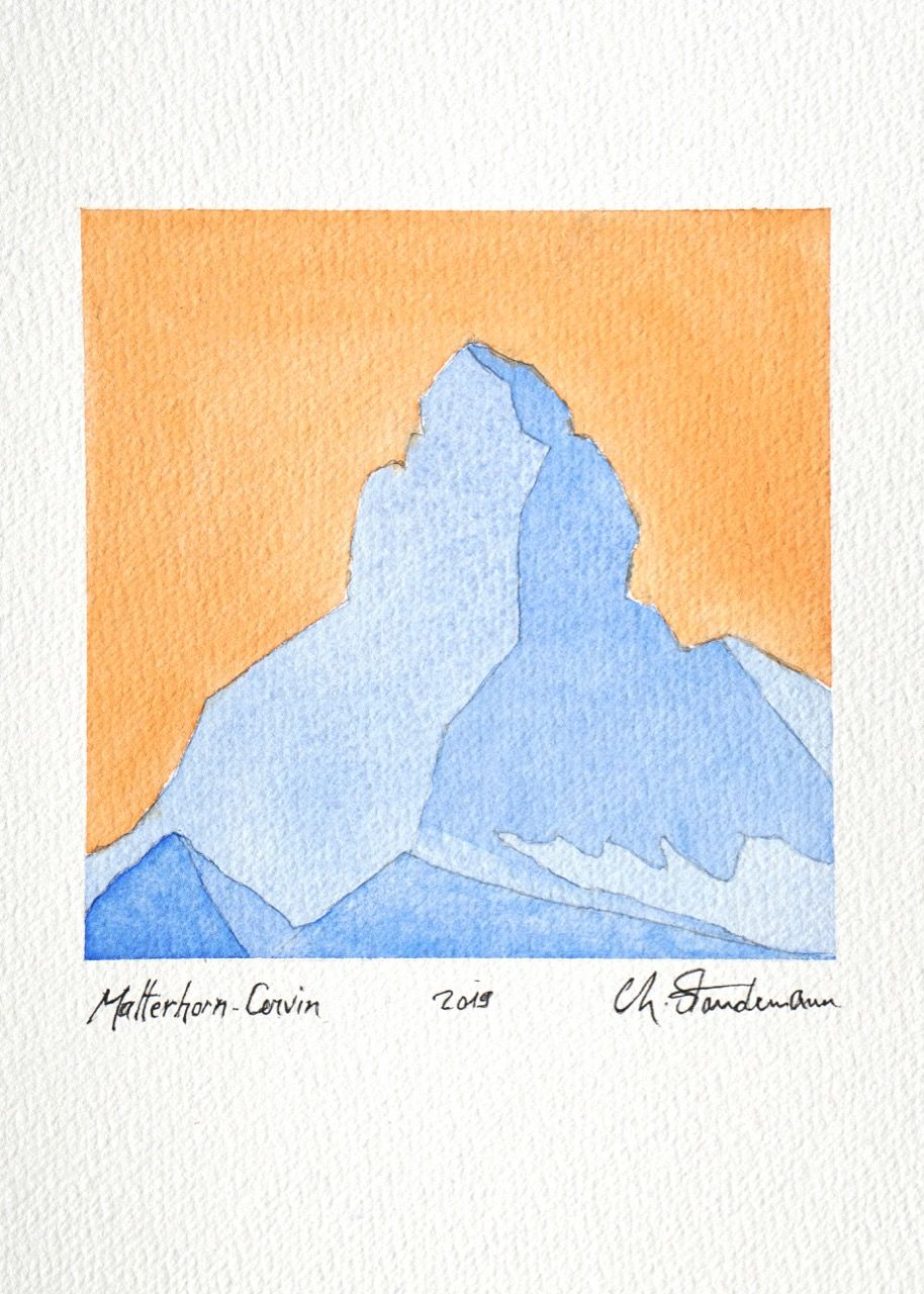 Matterhorn - Cervin 2 - Bleu et orange