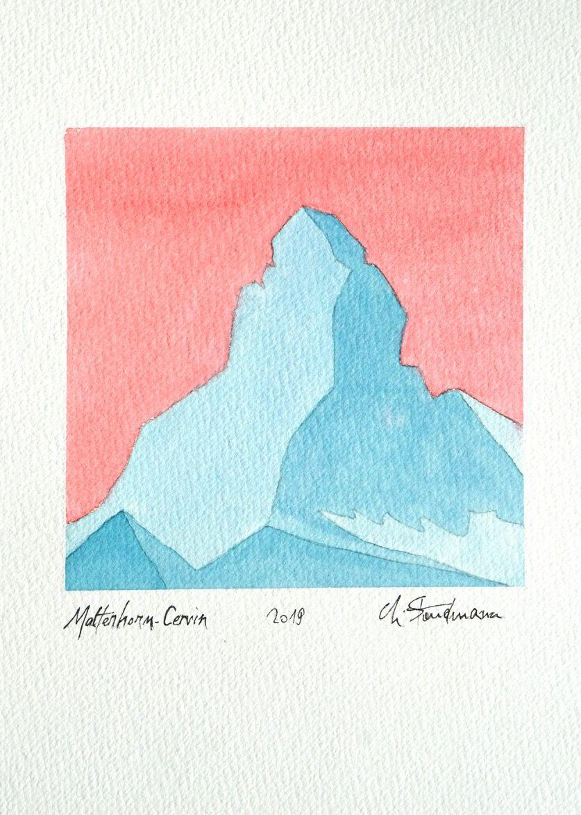 Matterhorn / Cervin 3 - Turquoise et rose