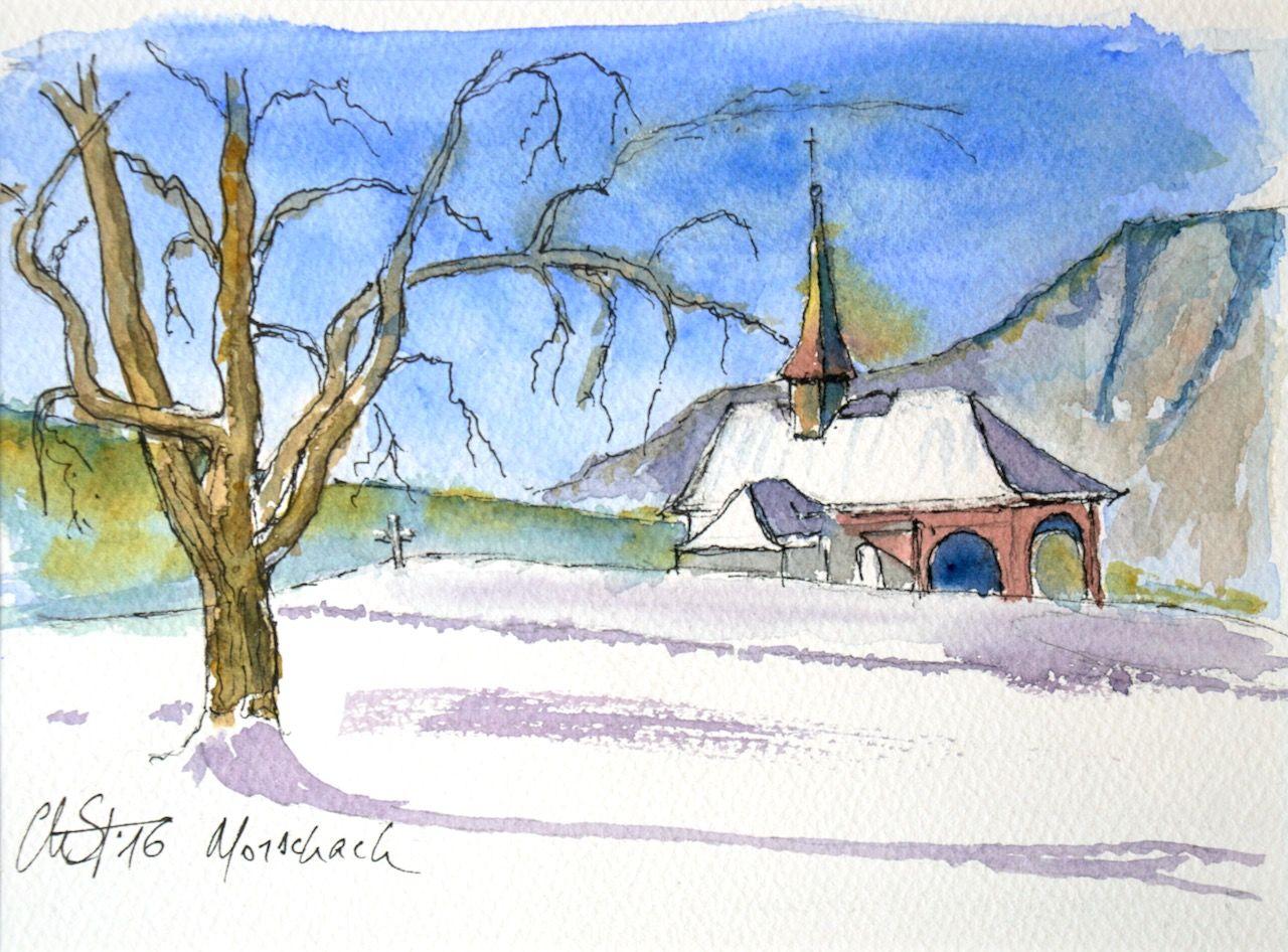 Chapelle sur les hauteurs de Morschach (Schwyz)