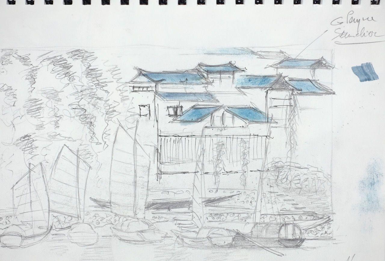 Village sur le Yangtse