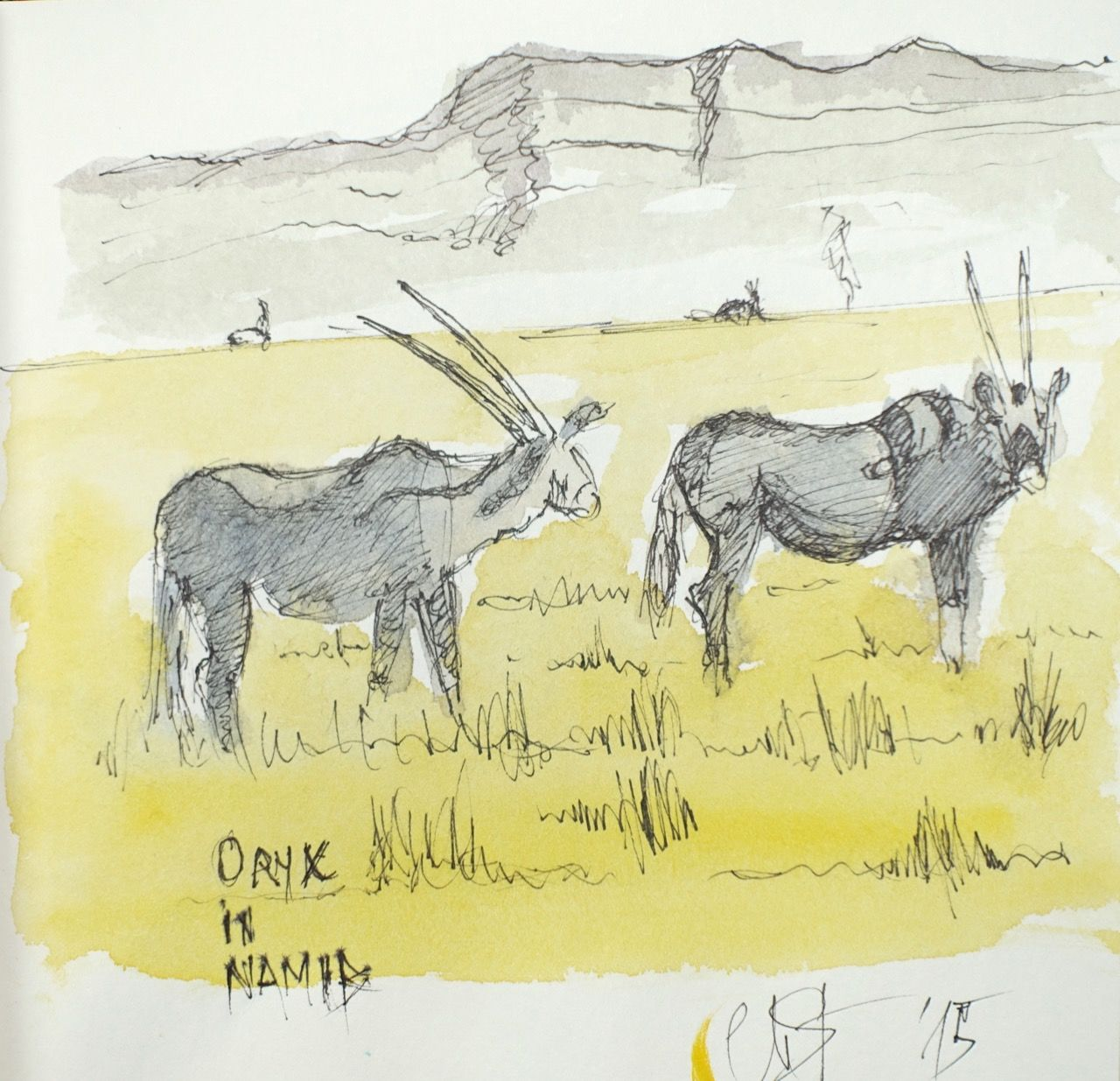 Antilopes orix