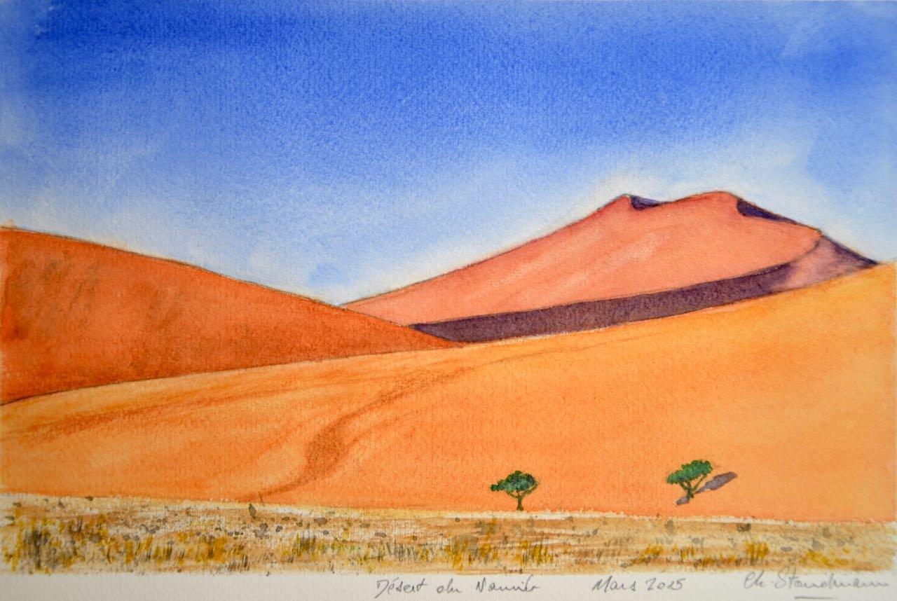 Dune à Sossusvlei, désert du Namib