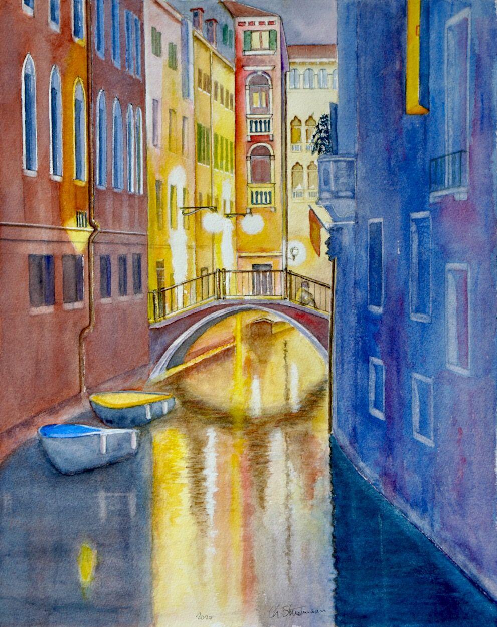 Duo - Canal de Venise de nuit - Venice canal by night