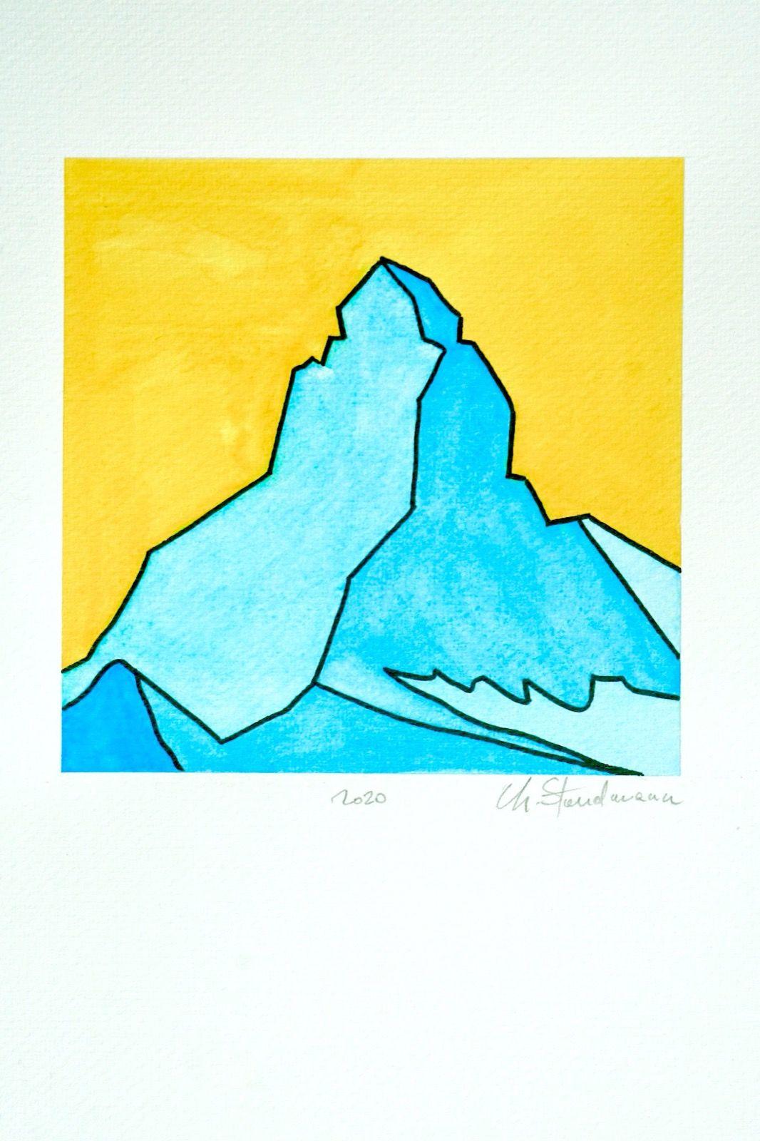 Matterhorn - Cervin 4 - Jaune et bleu turquoise