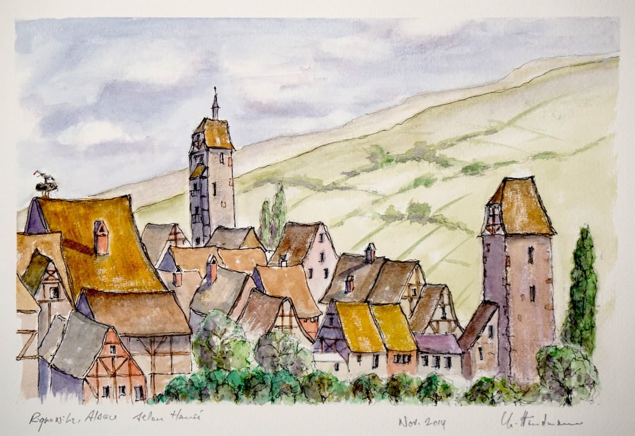Non disponible / Village de Riquewihr, Alsace