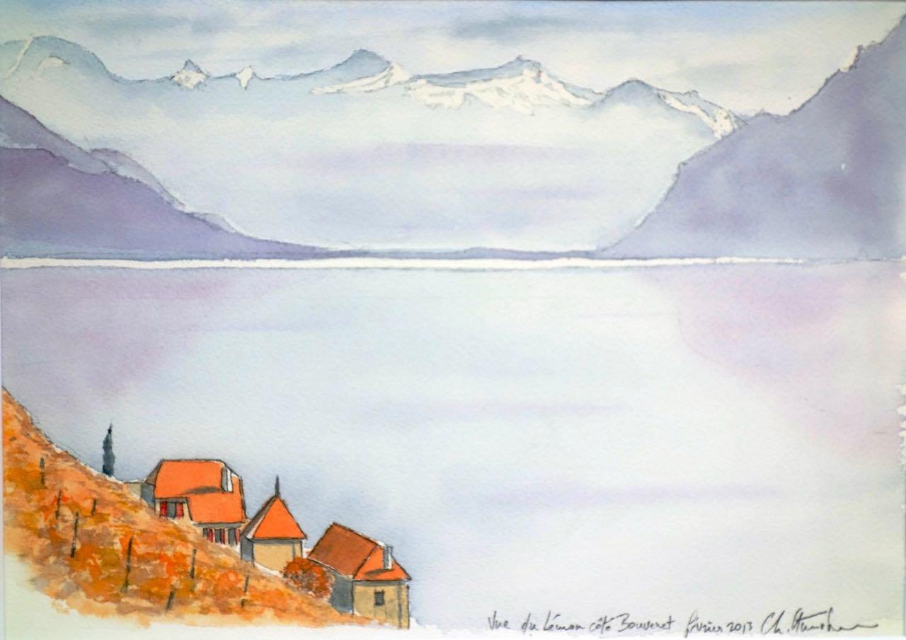 Lac Léman, du Lavaux vers les Alpes