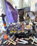 My encaustic studio set-up