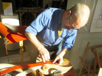 our volunteer leather-worker Jeremy Bonner