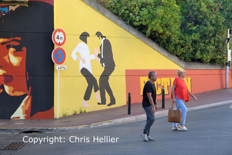 Pulp Fiction Street Art Cannes