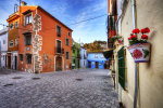 A backstreet of denia in Spain