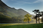 A sumer evening at buttermere lake in cumbria
