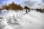 Snow covered Fence,Dartmoor