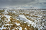 Winter on Dartmoor,Brat tor and Arms tor in the distance