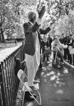 A Muslim man preaching at speakers corner in London