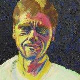 self portrait: acrylic paint 52x41cm