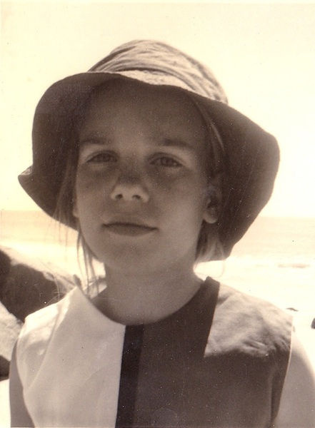 The artist as a child in her Mondrian Dress.