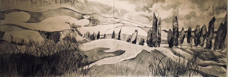 'Autumn in Pignano Drawing' SOLD