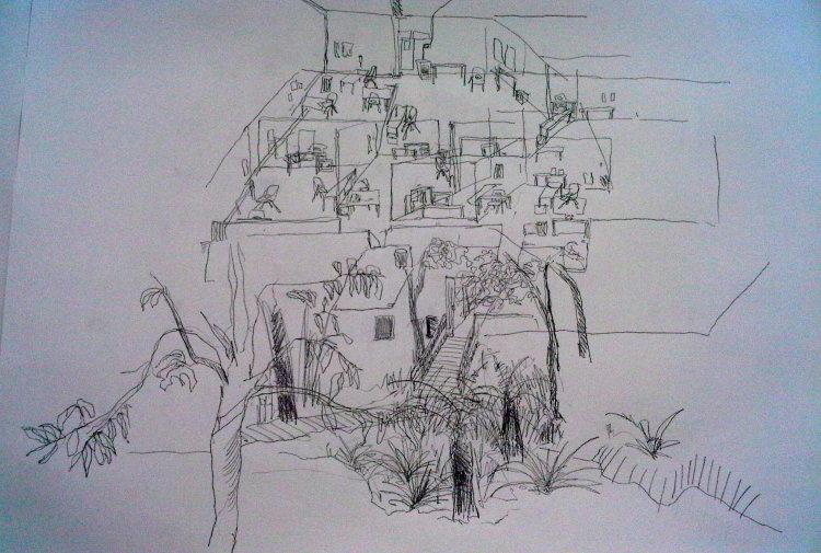 Memory drawing of studio
