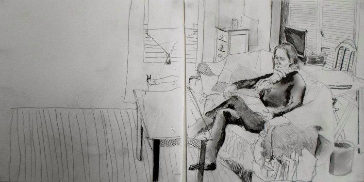 Mum in sitting/studio