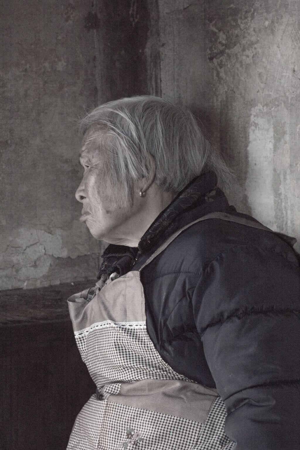China 012: mountain village three, portrait