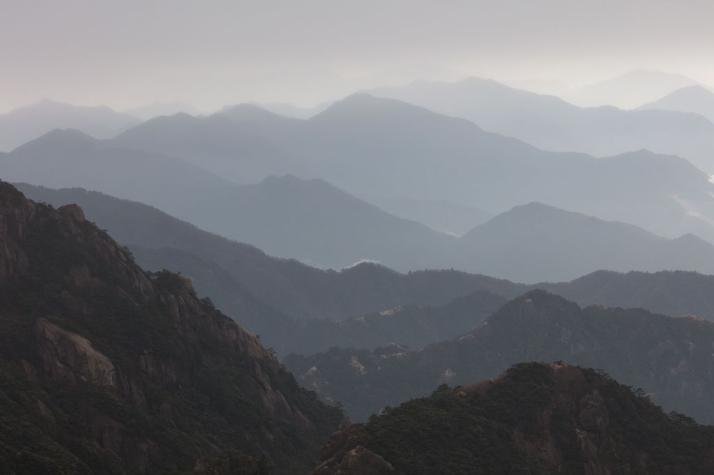 China 024: yellow mountains view three