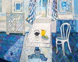 CHRISTINE WEBB Blue Room, 122x152cm