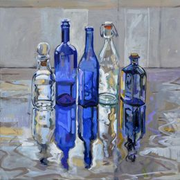 Mirror Blue, 60x60cm, SOLD