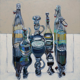 CHRISTINE WEBB Mother Water in 7 Bottles, 60x60cm