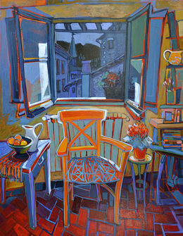 Night Window, 106x136cm SOLD