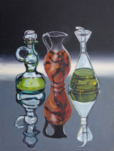 Sicilian Jug with Two Bottles 30x40cm SOLD