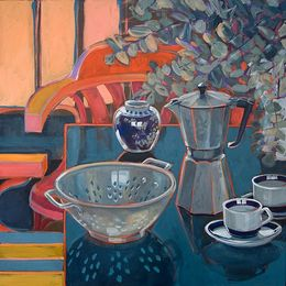 CHRISTINE WEBB, Sorrento Memories VI, 60x60cm SOLD