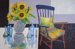 CHRISTINE WEBB Sunflower Summer 100x150 cm