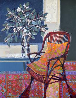CHRISTINE WEBB The Knitting Chair, 136x106cm, Acrylic on Canvas SOLD