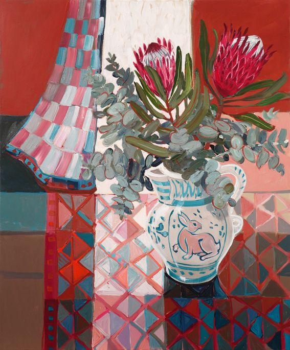CHRISTINE WEBB The Rabbit and the Protea 91x76cm sold