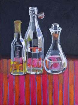CHRISTINE WEBB Three Bottles After Henri, 30x40cm SOLD